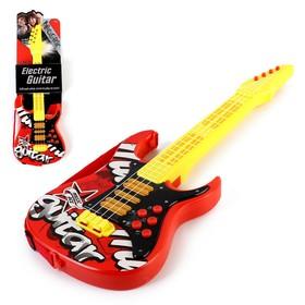 Игрушка музыкальная - гитара «Соло», световые и звуковые эффекты, работает от батареек