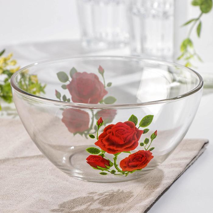 "Салатник 750 мл ""Алая роза"", 16 см"