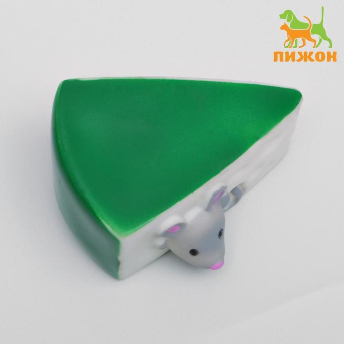 """Игрушка резиновая """"Сыр"""", 10 см"""