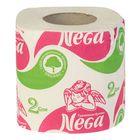 Туалетная бумага Nega, 2 слоя, белая, 1 шт./48