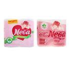 Туалетная бумага Nega Classic, 2 слоя, белая, 4 шт.