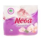 "Туалетная бумага Nega ""Орхидея"", 2 слоя, белая, 4 шт./12"