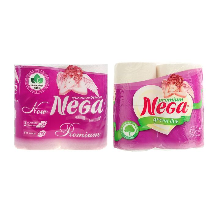 "Туалетная бумага Nega ""Премиум"", 3 слоя, белая"