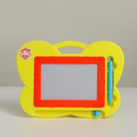 Детская доска для рисования с магнитной крошкой «Бабочка» МИКС