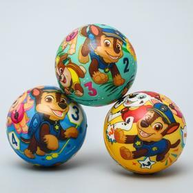 """Мягкий мяч PAW PATROL """"Цифры"""" 6,3см, микс"""