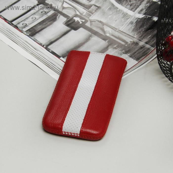 Чехол Time для телефона Apple iPhone 5, с ремешком, цвет красный/белый