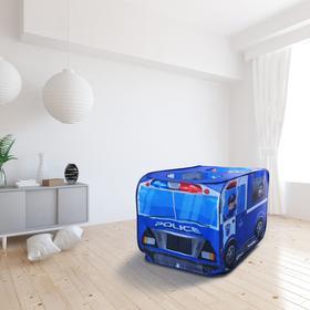 Детская игровая палатка «Полицейская машина» 73×73×114 см