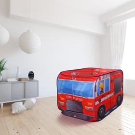 Детская игровая палатка «Пожарная машина» 73×73×114 см