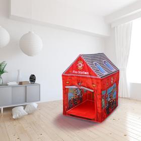 Детская игровая палатка «Пожарная станция» 70×93×103 см