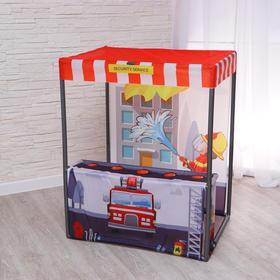 Детский игровой тент «Пожарная станция» 60×80×99 см