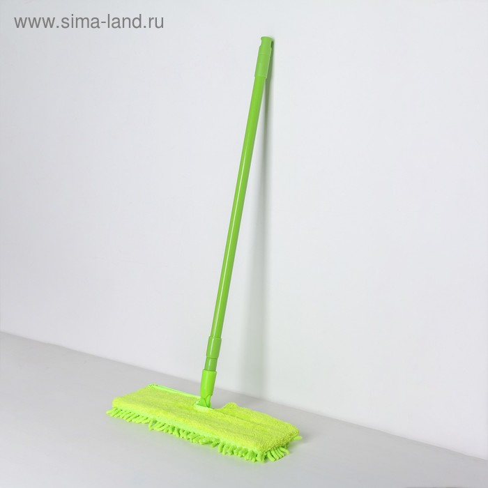 Flat MOP telescopic handle, 60 to 120 cm, double-sided nozzle made of microfiber, MIX color
