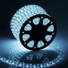 LED шнур 11х18 мм, квадратн., 100 м, чейзинг, 3W-LED/м-36-220V в компл. набор д/подкл. Белый