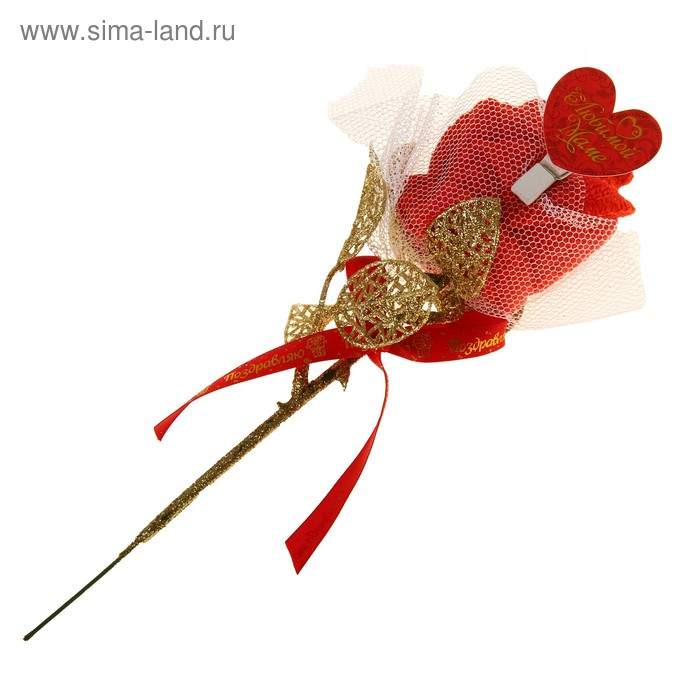 "Полотенце сувенирное роза ""Любимой маме"" 20 х 20см"