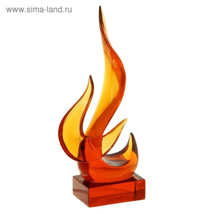 """Фигурка """"Пламя"""", янтарная"""