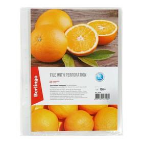 Файл-вкладыш А4 60 мкм, Berlingo Апельсиновая корка, матовый, 100 штук в упаковке