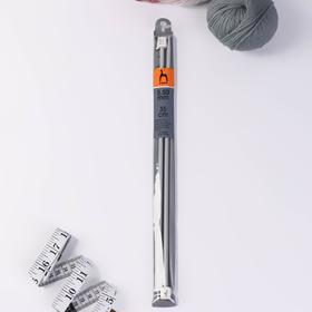 Спицы для вязания, прямые, d = 5,5 мм, 35 см, 2 шт