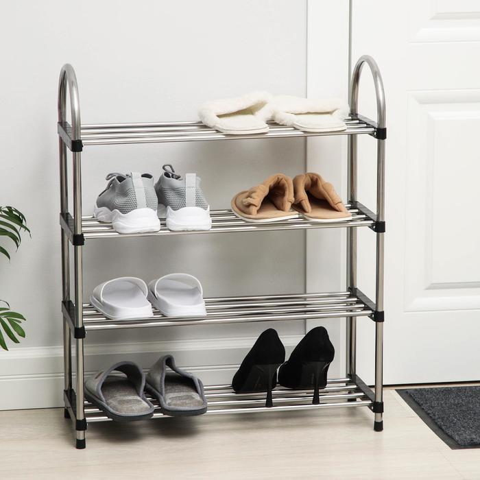 Полка для обуви 4 яруса, 60х22х69 см