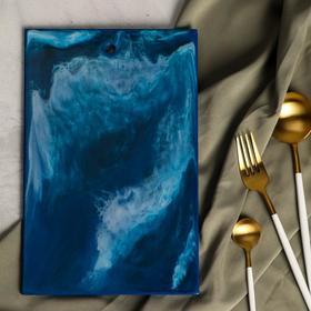 Разделочная доска ручной работы «Море», 28 × 18 см