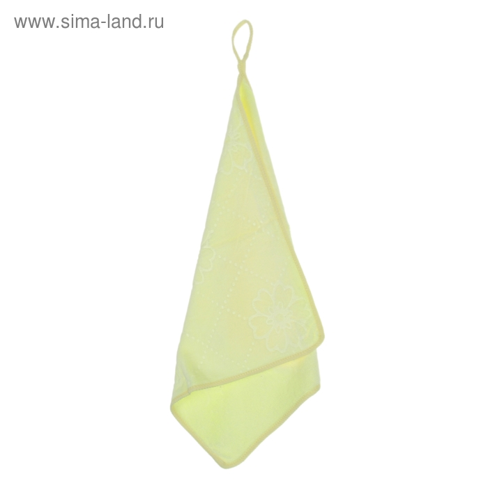 """Салфетка для уборки с петлей 30х30 см """"Светлый день"""", цвет желтый"""