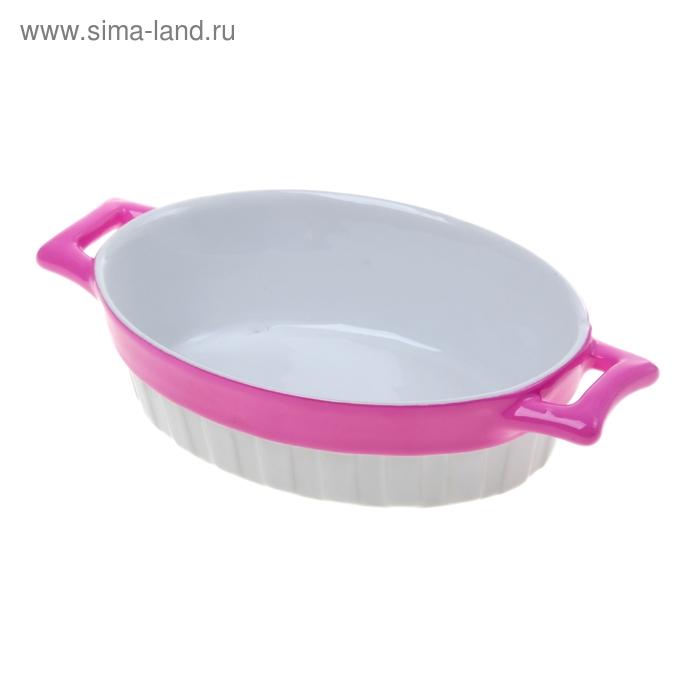 """Форма для запекания керамическая 400 мл """"Стиль"""", розовая"""