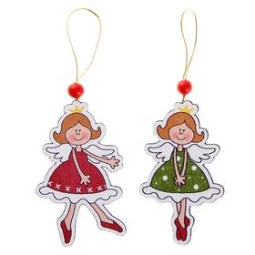 Подвеска новогодняя «Ангелочки», МИКС, односторонняя