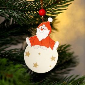 Подвеска новогодняя «Дед Мороз на шарике»