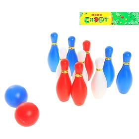 Набор игровой 'Боулинг', в наборе: 10 кеглей (высота 10,5 см), 2 мяча Ош