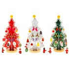 """Souvenir Christmas """"Tree stand"""", with a silver loop and star, MIX color"""