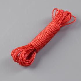 Веревка бельевая 2,5 мм, длина 10 м, цвет МИКС Ош