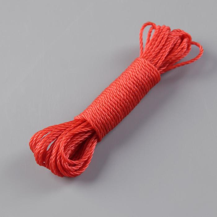 Веревка бельевая 2,5 мм, длина 10 м, цвет МИКС