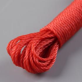 Верёвка бельевая, d=2,5 мм, длина 10 м, цвет МИКС - фото 4635765