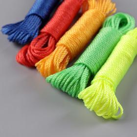 Верёвка бельевая, d=2,5 мм, длина 10 м, цвет МИКС - фото 4635766