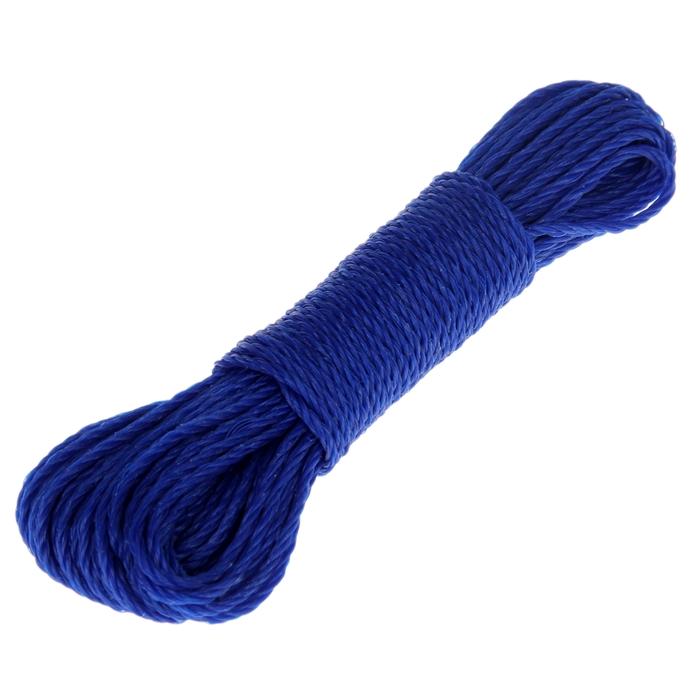 Веревка бельевая 2,5 мм, длина 15 м, цвет МИКС