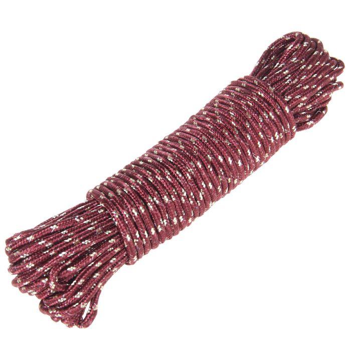 Верёвка бельевая d=7 мм, длина 20 м, цвет МИКС