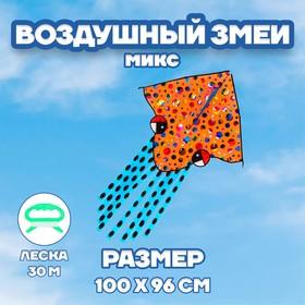 Воздушный змей «Лягушка», с леской, цвета МИКС
