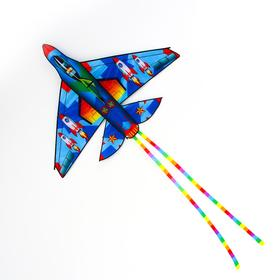 Fighter kite with line, MIX colors