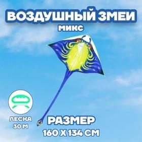 Воздушный змей «Скат», с леской, цвета МИКС