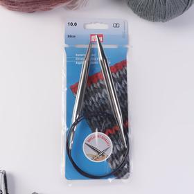 Спицы для вязания, круговые, с пластиковой леской, d = 10 мм, 80 см