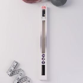Ergonomics knitting needles, straight, d = 5 mm, 35 cm, 2 pcs.