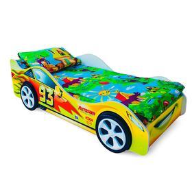Детская кровать-машина «Тачка желтая»