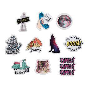 Boom paper sticker set, 7 × 6 cm, 10 pcs