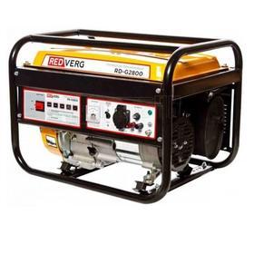 Генератор RedVerg RD-G 2800, бензиновый, 220 В, 2.5/2.8 кВт, 15 л, ручной