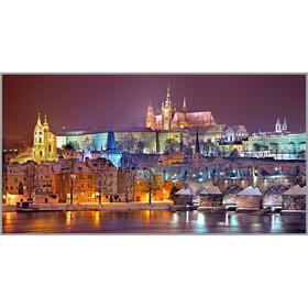 Алмазная мозаика «Рождественская Прага» 95×50 см, 40 цветов