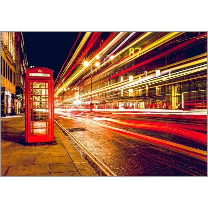 Алмазная мозаика «Ночной Лондон» 50×35 см, 37 цветов - фото 787451