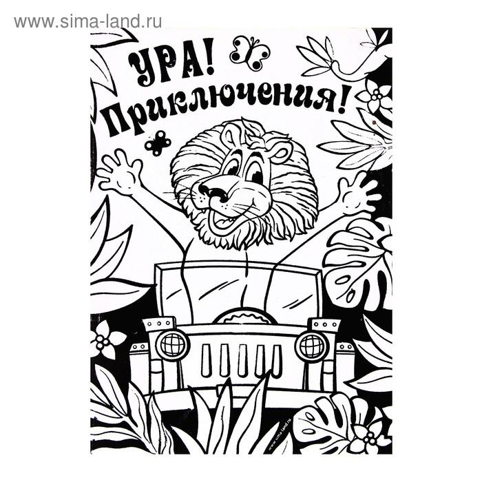 """Раскраска контурная """"Приключения"""""""