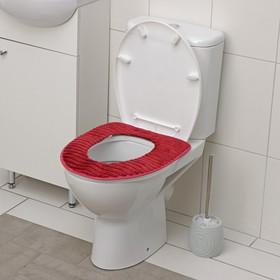 Чехол на сиденье для унитаза на липучках «Плюша», 37×42 см, цвет МИКС