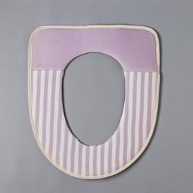 Чехол на сиденье для унитаза на липучках «Морячок», 37×42 см, цвет МИКС