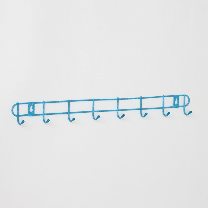 Вешалка настенная на 8 крючков, цвет МИКС