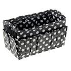 Бокс для мелочей «Горошек», 15 карманов, 23,5 × 12 × 13 см, цвет чёрно-белый