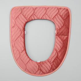Чехол на сиденье для унитаза на липучках «Фили», цвет МИКС